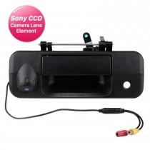 SONY CCD 600 linhas para câmera de backup TOYOTA Tundra Tacoma 2007-2015 com porta traseira preta com fio e visão noturna para estacionamento à prova d'água