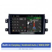 Estéreo do rádio do carro com tela de toque HD Android 10.0 para Suzuki SX4 Fiat Sedici 2007-2015 Sistema de navegação GPS Bluetooth DVD Player Música USB WIFI DVR OBD2 1080P