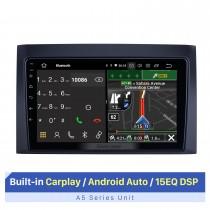 """Tela sensível ao toque HD de 9 """"para 2008-2011 ISUZU D-Max Radio Sistema de áudio automotivo Suporte para reparo de rádio automotivo Display de tela dividida"""