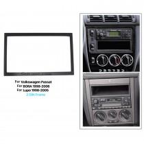 173 * 98mm Double Din 2008-2011 Volkswagen Passat Car Rádio Fascia Stereo Dash DVD Frame Kit de instalação de CD