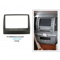 173 * 98mm Double Din 2008 Buick Lacrosse Car Rádio Fascia CD Trim Painel Painel de montagem Kit de instalação Player de áudio