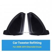 Car Horn Refit Instalação Estéreo Tweeter Refitting Boxes para 2009 2010 2011 Chevrolet Cruze Audio Ángulo de porta Gums 2pcs