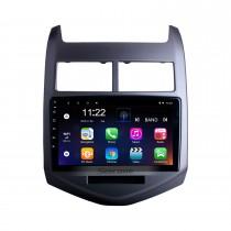2010 2013 Chevrolet Aveo Android 10.0 HD Touchscreen 9 polegadas Buetooth GPS Navi rádio do carro com AUX WIFI Controle do volante Suporte para CPU Visão traseira Câmera DVR OBD
