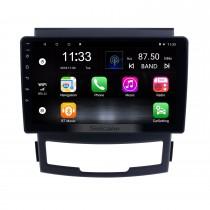 Para 2011 2012 2013 SsangYong Korando Radio Android 10.0 HD Touchscreen de navegação GPS de 9 polegadas com suporte para Bluetooth USB Carplay SWC