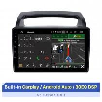 """9 """"Android Auto para 2011 KIA VQ GPS Navi DVD Player de carro com áudio de carro Bluetooth com GPS 3G / 4G Suporte Wifi Controle de volante"""