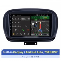Tela sensível ao toque HD de 9 polegadas para Fiat 500X 2014-2019 Rádio Bluetooth para carro Rádio para carro Suporte para reparo de tela dividida