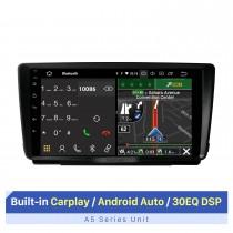 Rádio de carro de 9 polegadas para 2014 SKODA OCTAVIA com Carplay / Andriod Auto RDS DSP com suporte para tela sensível ao toque e navegação GPS Câmera AHD