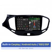 """Tela sensível ao toque HD de 9 """"para 2015-2019 LADA Vesta Cross Sport Radio Car GPS Navegação estéreo com suporte estéreo Controle do volante"""