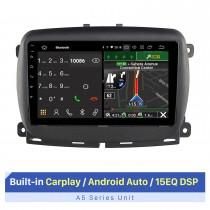 """Tela sensível ao toque HD de 9 """"para 2015+ FIAT 500 Autostereo Car Stereo System Car Radio DVD Player com suporte para exibição em tela dividida"""
