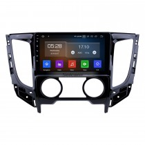 9 polegadas Android 10.0 2015 Mitsubishi TRITON Manual A / C 1024 * 600 Rádio Touchscreen com GPS Navi USB FM Bluetooth suporte WIFI RDS Carplay 4G DVD Player