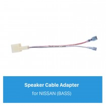 Hot Auto Auto Áudio Speaker Cable Adapter para NISSAN (BASS)