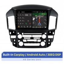 Tela sensível ao toque HD de 9 polegadas para Lexus RX300 1999 Reprodutor multimídia para carro Navegação GPS Estéreo Bluetooth Rádio para carro Tela sensível ao toque Rádio com suporte para controle do volante