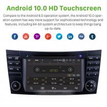 7 polegadas Mercedes Benz CLK W209 HD Touchscreen Android 10.0 Navegação GPS Rádio Bluetooth Carplay Música USB Suporte AUX TPMS DAB + Link de espelho