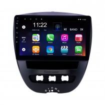 10.1 polegada Android 10.0 2005-2014 Toyota Aygo Navegação GPS Rádio com Bluetooth HD Touchscreen WIFI apoio AUX USB TPMS DVR Carplay SWC