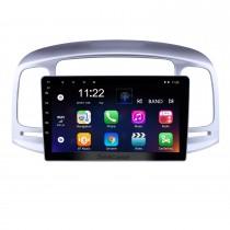 2006-2011 Hyundai Accent Touch tela Android 10.0 de 9 polegadas Unidade Cabeça Bluetooth Estéreo com música suporte AUX WIFI DAB + OBD2 DVR controle da roda de direção