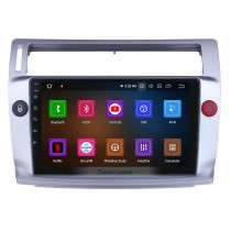 HD Touchscreen para 2009 Citroen Old C-Quatre Radio Android 10.0 9 polegadas Sistema de Navegação GPS Bluetooth Carplay support DAB + DVR