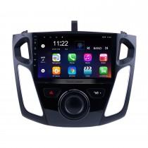 9 polegadas Android 10.0 GPS de navegação HD 1024 * 600 Touchscreen de rádio para 2011 2012-2015 Ford Focus com Bluetooth WIFI 1080P USB de link de espelho OBD2 DVR Controle de volante
