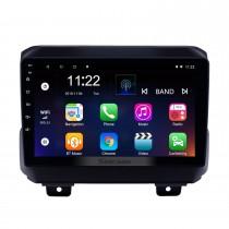 9 polegada android 10.0 gps rádio de navegação para 2018 jeep wrangler com suporte para bluetooth wifi aux hd touchscreen carplay dvr obd