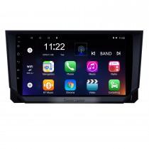 9 polegada android 10.0 gps rádio de navegação para 2018 seat ibiza com bluetooth usb wi-fi hd touchscreen suporte tpms carplay dvr