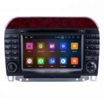7 polegadas Android 10.0 HD Touchscreen Radio para 1998-2005 Mercedes Benz Classe S W220 / S280 / S320 / S320 CDI / S400 CDI / S350 / S430 / S500 / S600 / S600 / S55 / AMG / S63 AMG / S65 AMG com navegação GPS Bluetooth Suporte para reprodução 1080P