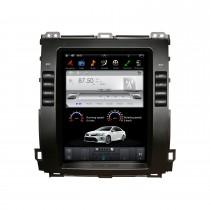 10,4 polegadas para sistema de navegação de rádio Toyota Prado 2002-2009 Android 9.0 estéreo automotivo WIFI Bluetooth HD com suporte para tela sensível ao toque 1080P Carplay Controle de volante