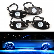 Chassis do carro Controle Bluetooth 4 Pods RGB LED Luzes de Rocha para Universal Under Car com Impermeável e Anti-Corrosão