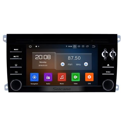 Android 10.0 HD сенсорный экран 7 дюймов для 2003-2009 2010 2011 Porsche Cayenne Радио GPS-навигация с Bluetooth AUX Поддержка Carplay Задняя камера