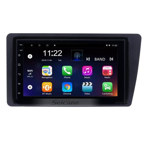 Головное устройство автомобильного радио с сенсорным экраном Android 10.0 HD для 2001-2005 Honda Civic GPS-навигация Bluetooth WIFI Поддержка Mirror Link USB DVR 1080P Видео Управление рулевым колесом