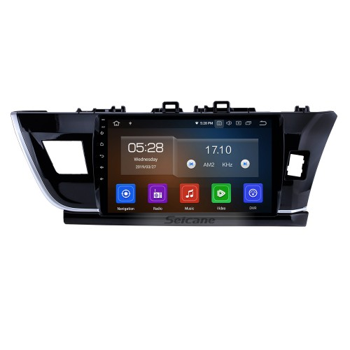 9 inch Android 4.4.4 car multimedia GPS navigation system for 2014 Toyota COROLLA right with DVD player Bluetooth Radio Mirror link HD touch screen Rear view camera TV USB SD OBD DVR 3G WIFI IPDO Quad-core CPU 16G Flash