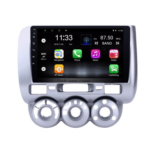 9-дюймовый сенсорный экран Android 10.0 GPS Navi Radio для 2004-2007 HONDA Jazz / FIT (Manual AC, LHD) 2006 2007 CITY 2011-2019 EVERUS S1 Bluetooth WIFI Mirror Link USB
