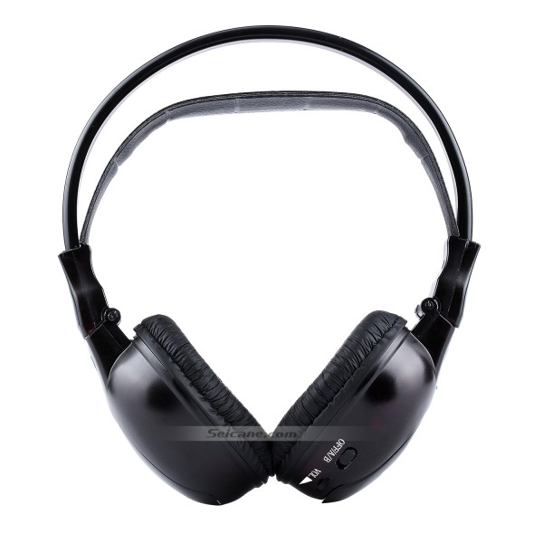 Infrared Wireless Headphone Indoor Headset for PC Car Stereo Transmitter Headrest DVD Player TV Dual Channel