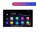 7-дюймовый Android 10.0 2 DIN сенсорный экран радио для универсального Toyota Hyundai Kia Nissan Volkswagen Suzuki Honda GPS навигационная система Bluetooth Музыка Резервная камера