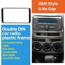 178 * 100 мм 2 Din 2006 Toyota Camry Vios Corolla Желание Altis 4500 Автомобильное радио Fascia Audio Player Панель Plate Stereo Установить раму