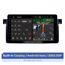 9-дюймовый Android 10.0 GPS-навигатор для BMW M3 / 3 Series E46 / 2001-2004 MG ZT / 1999-2004 Rover 75 1998-2004 гг. С сенсорным экраном HD Поддержка Bluetooth Carplay