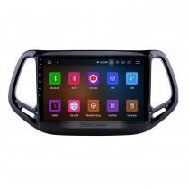 10,1-дюймовый Android 11.0 HD 1024 * 600 с сенсорным экраном Car Stereo для Jeep Compass 2017 Bluetooth Музыка Радио GPS-навигация Аудио система Поддержка Mirror Link 4G WiFi Резервная камера DVR Управление рулевого колеса