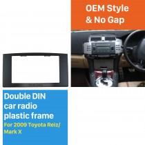173 * 98мм Двойной Дин 2005-2009 Toyota Reiz Mark X Автомобильный радиоприемник Fascia Авто стерео DVD Рама пунктирными Mount Kit
