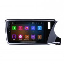 10,1-дюймовый Android 11.0 HD с сенсорным экраном радио GPS навигационная система для 2014 2015 2016 2017 Honda CITY (RHD) с Bluetooth Music Mirror Link OBD2 3G WiFi резервная камера 1080P Видео AUX Управление рулевого колеса