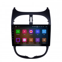 2000-2016 Peugeot 206 Android 11.0 9-дюймовый GPS-навигация Радио Bluetooth HD с сенсорным экраном WIFI USB Поддержка Carplay Резервная камера