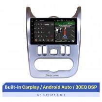 10,1-дюймовый сенсорный экран HD для автомобильной стереосистемы Renault Duster Logan Radio 2009-2013 с поддержкой Bluetooth 2.5D IPS сенсорный экран