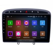 9-дюймовый сенсорный экран Android 11.0 HD для 2010 2011 Peugeot 308 408 с GPS-навигатором USB WI-FI Музыка Bluetooth Поддержка AUX RDS DVD-плеер 4G TPMS OBD