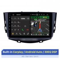 Android 10.0 для 2011-2016 Автомобильная аудиосистема Lifan X60 Сенсорный экран со встроенной поддержкой Carplay Bluetooth GPS-навигация Управление рулевым колесом