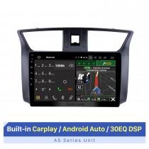 10,1-дюймовый Android-автомобильный радиоприемник с Bluetooth для 2012 Nissan Sylphy с поддержкой сенсорного экрана Bluetooth GPS-навигация AHD камера