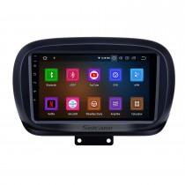 9 дюймов 2014-2019 Fiat 500X Android 11.0 GPS навигация Радио WIFI Bluetooth HD с сенсорным экраном Поддержка Carplay TPMS DVR Mirror Link