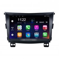 Сенсорный экран Android 10.0 HD 9 дюймов 2015 SSANG YONG Tivolan Radio GPS-навигационная система с поддержкой Bluetooth Carplay