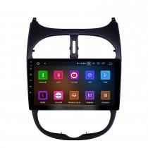 9-дюймовый Android 11.0 GPS-навигация Радио для 2000-2016 Peugeot 206 с сенсорным экраном HD Carplay AUX Bluetooth поддержка 1080P