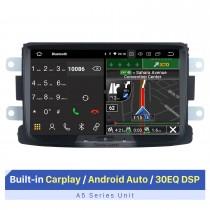 8-дюймовый сенсорный экран HD для мультимедийного проигрывателя Renault Dacia / Sandero / Duste, автомобильная стереосистема с поддержкой автомобильного радио Bluetooth 1080P, видеоплеер