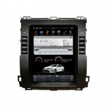 10,4 дюйма для Toyota Prado 2002-2009 радионавигационная система Android 9.0 стерео WIFI Bluetooth HD поддержка сенсорного экрана 1080P Carplay Управление рулевым колесом