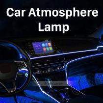 Автомобильная атмосферная лампа с 64 цветами для универсальных автомобилей