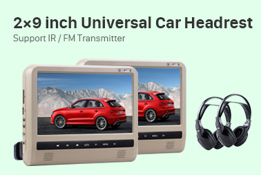 Tilt headrest DVD Player