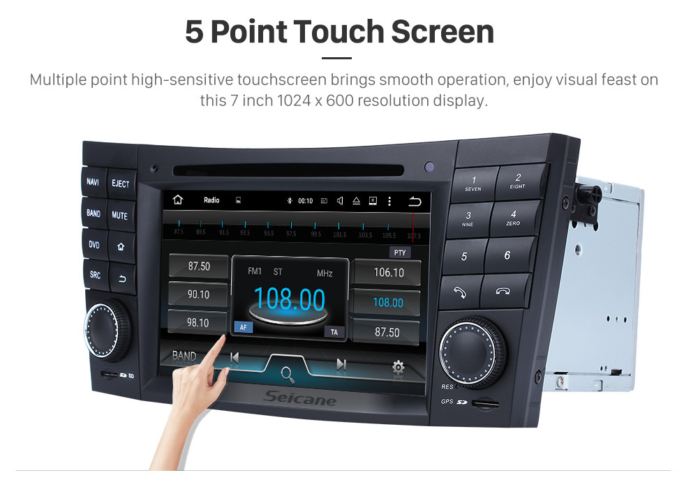 Seicane Android 7.1 GPS Navigation system for 2001-2008 Mercedes-Benz G-Class W463 G550 G500 G400 G320 G270 G55 with Radio DVD Player Touch Screen Bluetooth WiFi TV HD 1080P Video Backup Camera steering wheel control USB SD